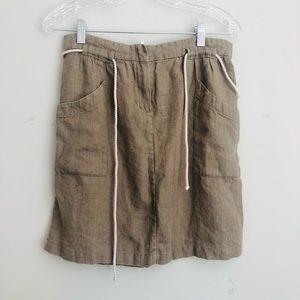 Zyga Linen Women's Drawstring Skirt